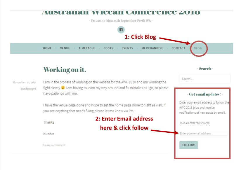 Blog Subscription